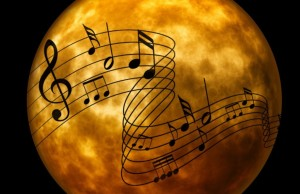 moon, musical notes, pet therapy